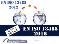 1802 EN ISO 13485:2016 Y CUMPLIMIENTO REGLAMENTARIO DE PROD. SANITARIOS – 15 Feb - Fecha: 15 de Febrero de 2018, de 10h a 18h - Barcelona El curso es de 1 jornada la parte presencial e incluye 25 horas (3 meses) adicionales en la web de formación http://formacion.tecnologias-sanitarias.com/course/view.php?id=84  (Precio incluye desayuno, comida, documentación, acceso portal teleformación y certificados asistencia y aprovechamiento).