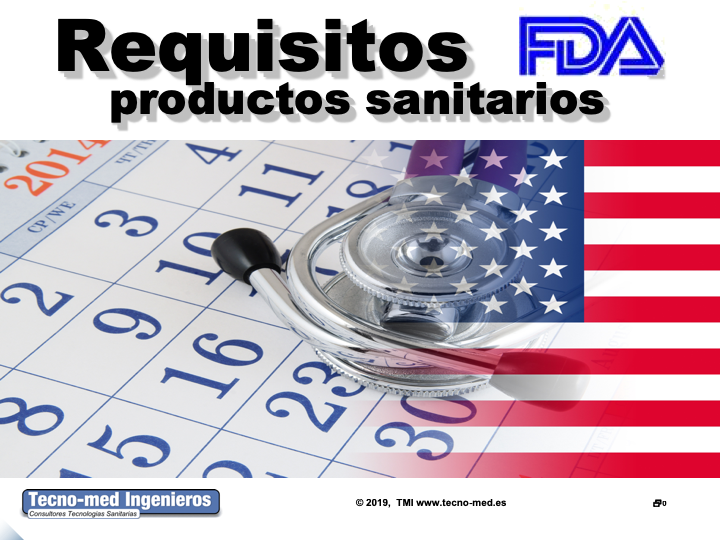 1904T - REQUISITOS FDA PRODUCTOS SANITARIOS -ONLINE