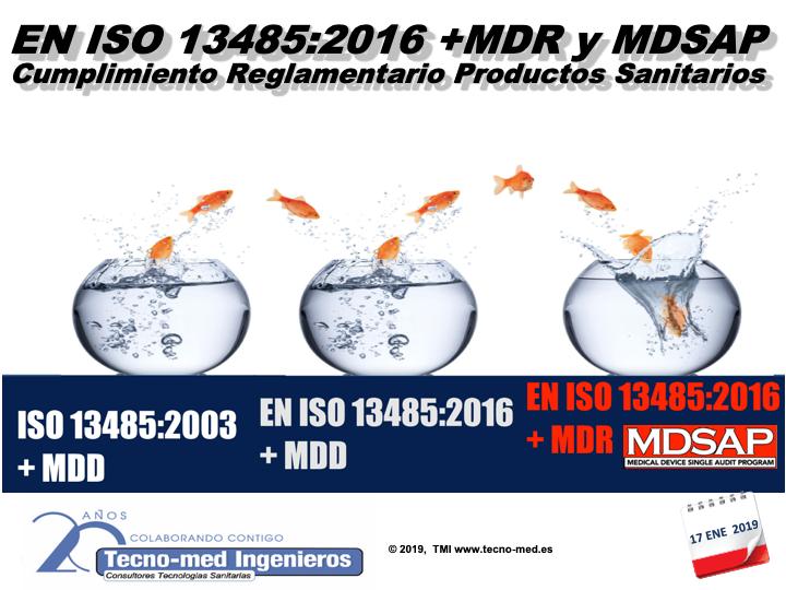 1901 EN ISO 13485:2016 + MDR Y MDSAP. CUMPLIMIENTO REGLAMENTARIO PRODUCTOS SANITARIOS - 17 Ene BCN - Fecha: 17 de Enero de 2019, de 10h a 18h - Barcelona El curso es de 1 jornada la parte presencial e incluye 25 horas ( 3 meses ) adicionales en la web de formación http://formacion.tecnologias-sanitarias.com/course/view.php?id=134   Este curso estará disponible en formato online con posterioridad a la jornada de formación presencial.Precio incluye desayuno y comida de trabajo, documentación de referencia, acceso portal tele-formación y Certificados Asistencia y Aprovechamiento una vez superada la auto-evaluación que contiene la misma. Lugar de la Formación Presencial:  Parque Tecnológico Barcelona BCNord  – C/Marie Curie nº 8 - Barcelona C.P. 08042    Encuéntrenos a través de este enlace en el mapa GOOGLE MAPS  Metro.  L4 (amarilla) Parada Llucmajor Teléfono de contacto : 93 291 77 39  PLAZAS LIMITADAS !! WhatsApp para Inscripciones última hora : 637 682692 Sr. Fontanals.