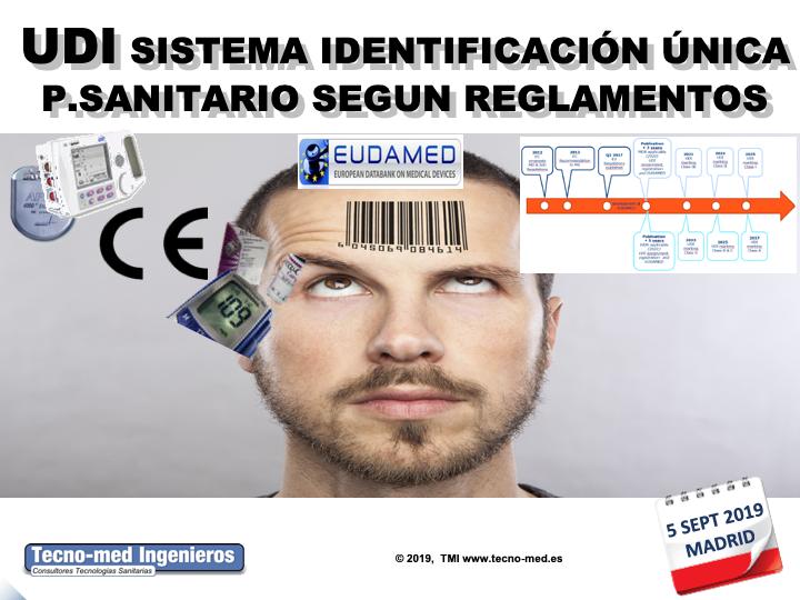 """1905 - UDI SISTEMA DE IDENTIFICACIÓN ÚNICA DE P.SANITARIOS SEGUN REGLAMENTOS- 5 SEPT MADRID - Fecha: 05 de Septiembre de 2019, de 10h a 18h - Madrid El curso es de 1 jornada la parte presencial e incluye 25 horas ( 3 meses ) adicionales en la web de formación http://formacion.tecnologias-sanitarias.com/course/view.php?id=141   Este curso estará disponible en formato online con posterioridad a la jornada de formación presencial.Precio incluye desayuno y comida de trabajo, documentación de referencia, acceso portal tele-formación y Certificados Asistencia y Aprovechamiento una vez superada la auto-evaluación que contiene la misma. Lugar de la Formación Presencial : Campo de las Naciones, Ribera del Loira, 46, Madrid, Comunidad de Madrid, 28042, España. """"Sala de Formación Gaudí """"  Encuéntrenos a través de este enlace en el mapa GOOGLE MAPS  Teléfono de contacto : 91 503 02 72 PLAZAS LIMITADAS !! WhatsApp para Inscripciones última hora : 637 682692 Sr. Fontanals."""