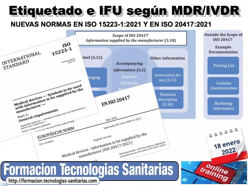 2201-ETIQUETADO E INSTRUCCIONES DE USO SEGÚN MDR / IVDR Y EN ISO 15223-1 Y EN ISO 20417- 18-ENE-22